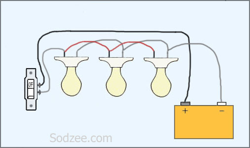 Simple Home Electrical Wiring Diagrams | Sodzee.com:Switch For Parallel Circuit Lights Series,Lighting