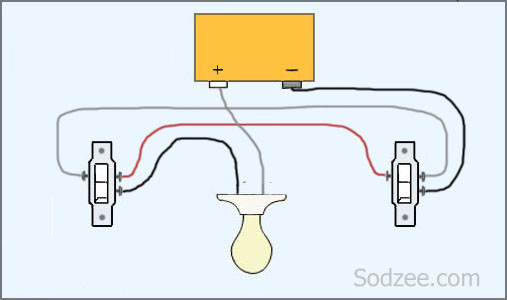 3 way switch 2 simple home electrical wiring diagrams sodzee com 3 way switch 2 lights wiring diagram at creativeand.co